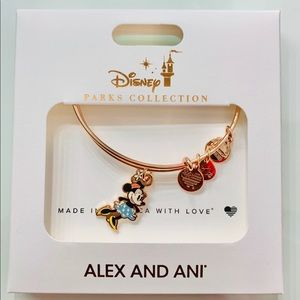 Disney Parks Rose Gold Minnie Mouse Alex And Ani